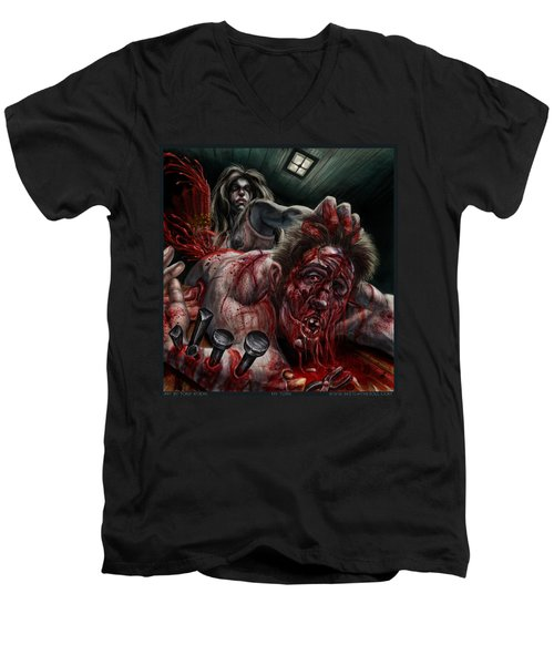 My Turn Men's V-Neck T-Shirt by Tony Koehl