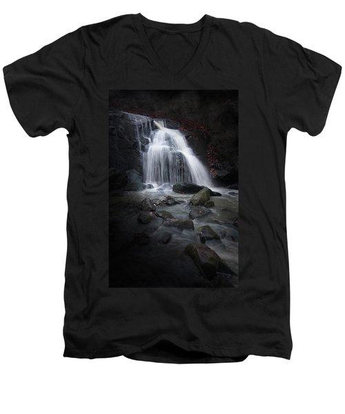 Mysterious Waterfall Men's V-Neck T-Shirt