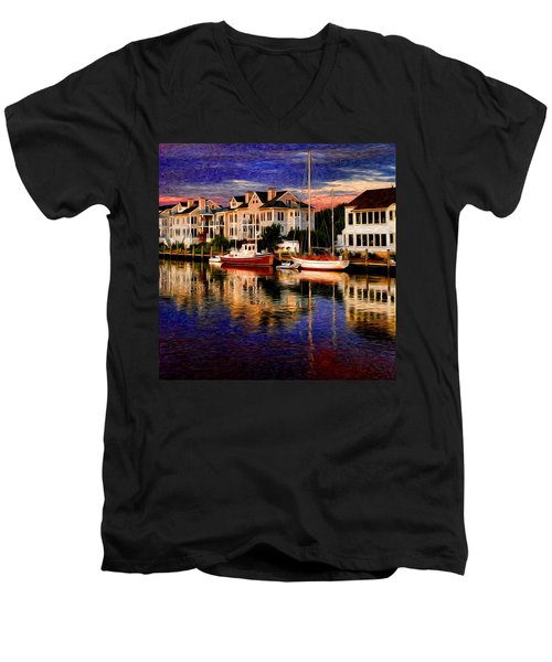 Mystic Ct Men's V-Neck T-Shirt by Sabine Jacobs