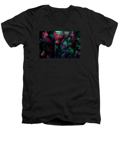 Mystic Dreamery Men's V-Neck T-Shirt by The Art Of Marilyn Ridoutt-Greene