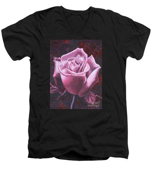 Mystic Rose Men's V-Neck T-Shirt by Vivien Rhyan