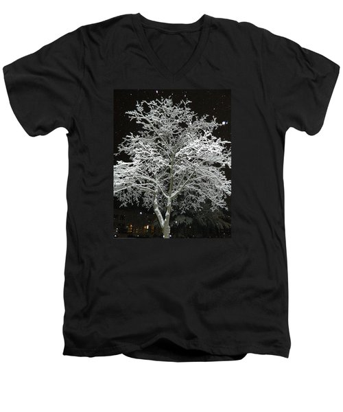 Mystical Winter Beauty Men's V-Neck T-Shirt by Emmy Marie Vickers
