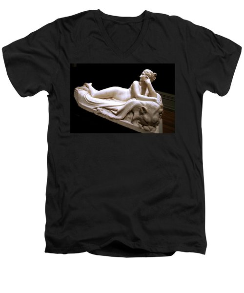 Men's V-Neck T-Shirt featuring the photograph Canova's Naiad by Cora Wandel