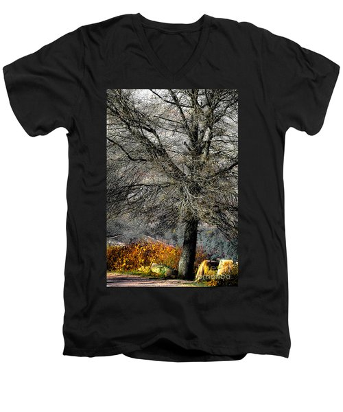 Naked For The Winter Men's V-Neck T-Shirt
