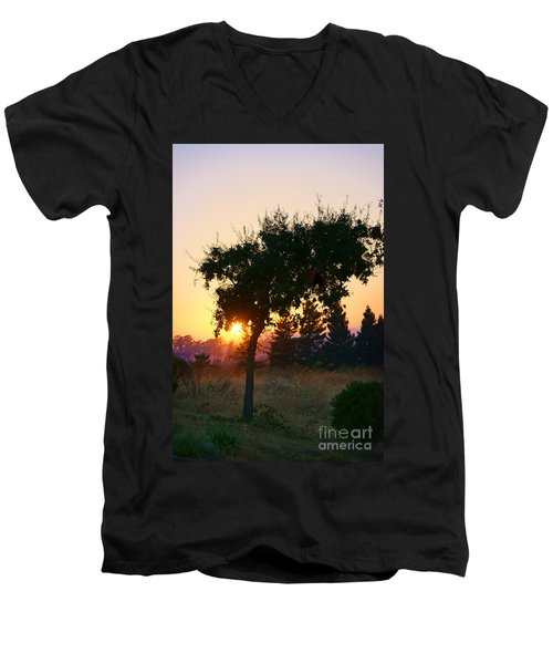 Men's V-Neck T-Shirt featuring the photograph Napa Moment by Ellen Cotton