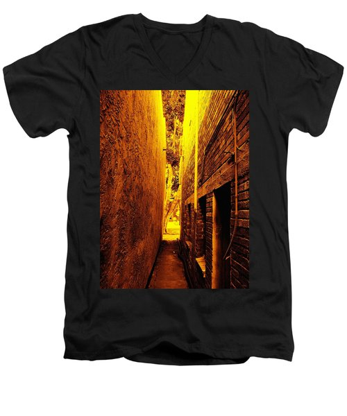 Narrow Way To The Light Men's V-Neck T-Shirt