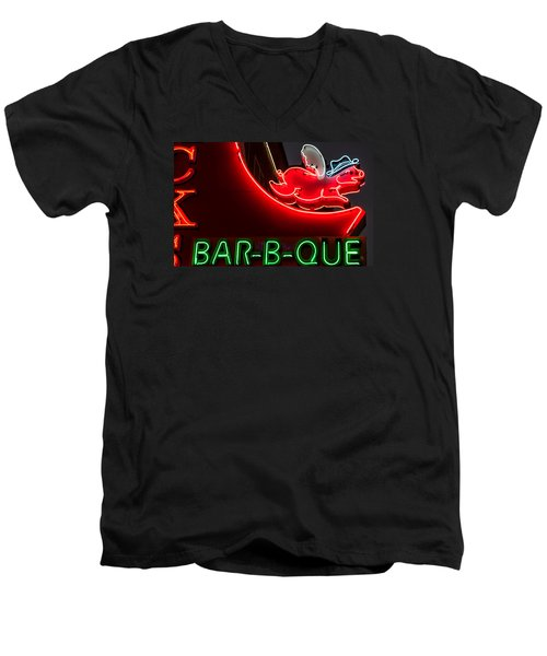 Nashville Bbq Men's V-Neck T-Shirt