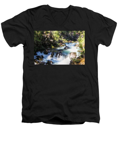 Natural Bridges Men's V-Neck T-Shirt by Melanie Lankford Photography