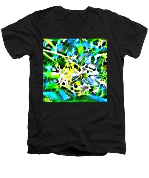 Nature Abstracted Men's V-Neck T-Shirt by Anna Porter