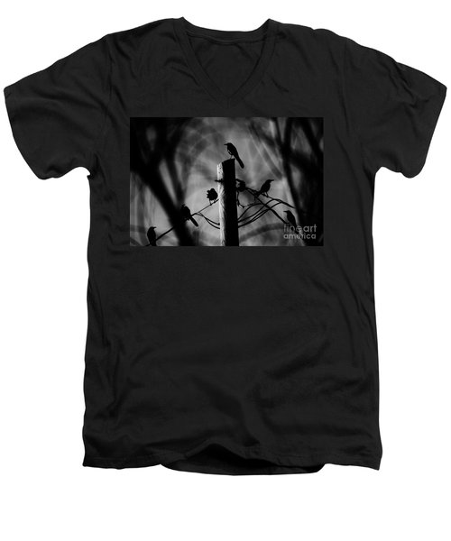 Men's V-Neck T-Shirt featuring the photograph Nature In The Slums by Jessica Shelton