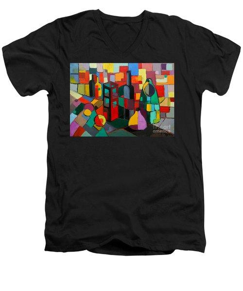 Nature Morte Cubiste Men's V-Neck T-Shirt