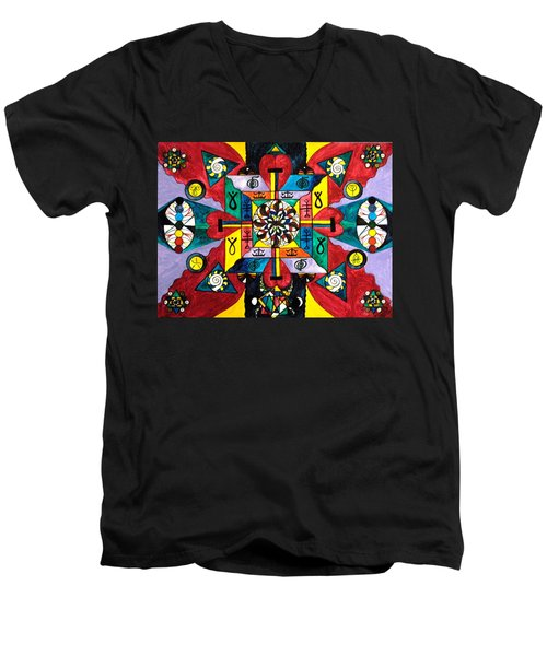 Nature Of Healing Men's V-Neck T-Shirt