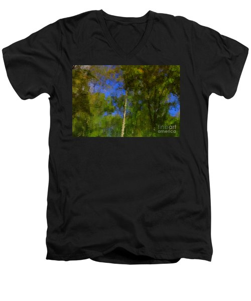 Nature Reflecting Men's V-Neck T-Shirt by Melissa Petrey