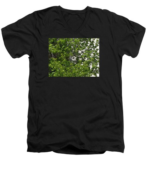 Nature's Art - Wellness Works Glendale - Face In The Tree  Men's V-Neck T-Shirt