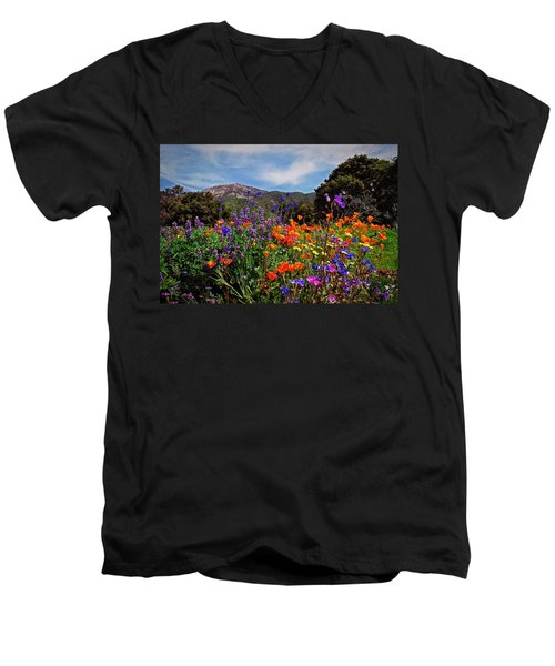 Men's V-Neck T-Shirt featuring the photograph Nature's Bouquet  by Lynn Bauer