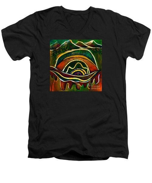 Nature's Child Spirit Eye Men's V-Neck T-Shirt by Deborha Kerr