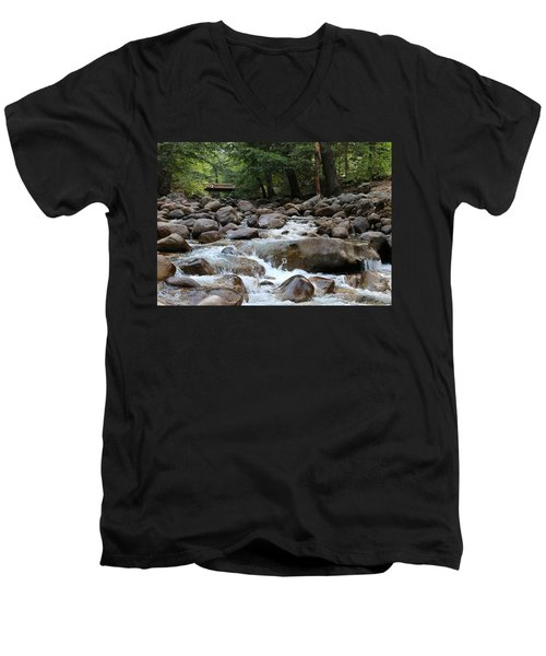 Nature's Flow  Men's V-Neck T-Shirt