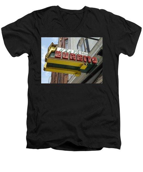 Neato Burrito Men's V-Neck T-Shirt