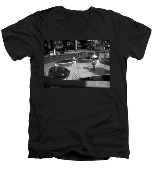 Men's V-Neck T-Shirt featuring the photograph Needs Water Skis  by Michael Krek