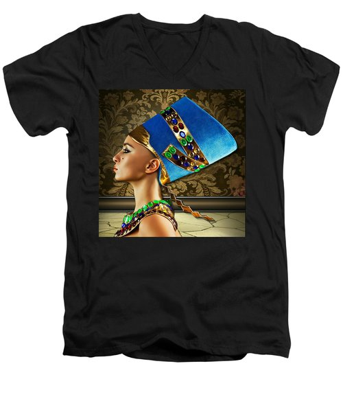 Nefertiti Men's V-Neck T-Shirt