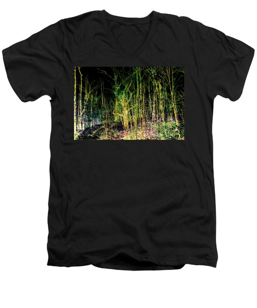Negative Forest Men's V-Neck T-Shirt