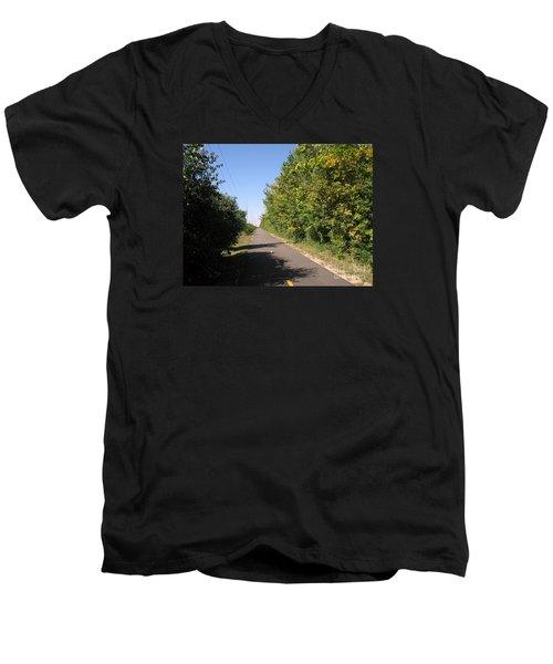 Neighborhood Bicycle And Walking Trail Men's V-Neck T-Shirt