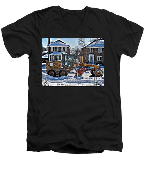 Neighbourhood Snowplough Men's V-Neck T-Shirt