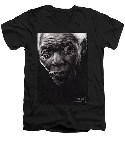 Nelson Men's V-Neck T-Shirt by Paul Davenport