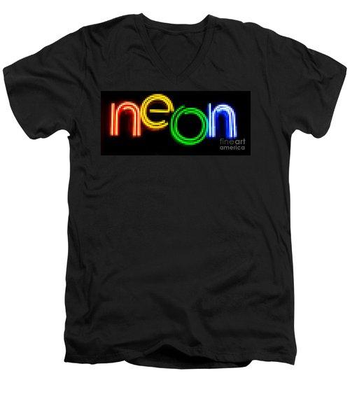Neon Men's V-Neck T-Shirt