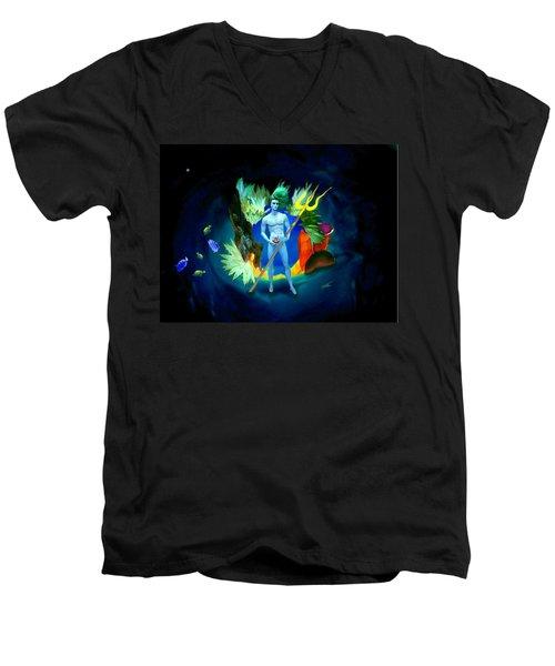 Neptune/poseidon Men's V-Neck T-Shirt