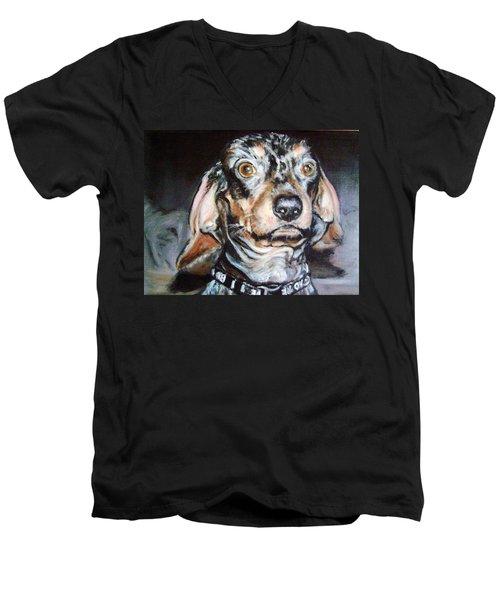 Nervous Man Men's V-Neck T-Shirt by Martha Suhocke