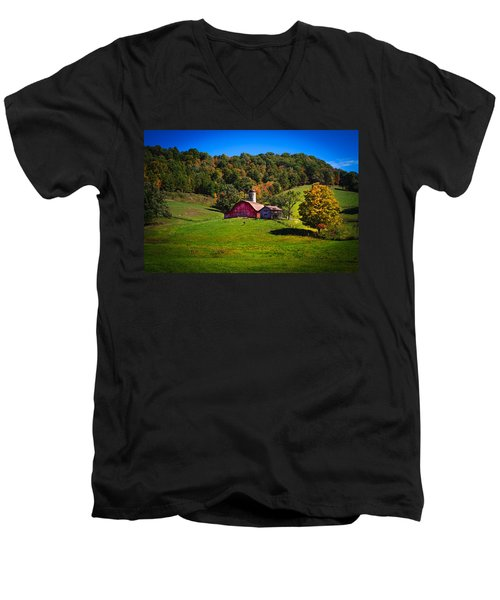 nestled in the hills of West Virginia Men's V-Neck T-Shirt by Shane Holsclaw