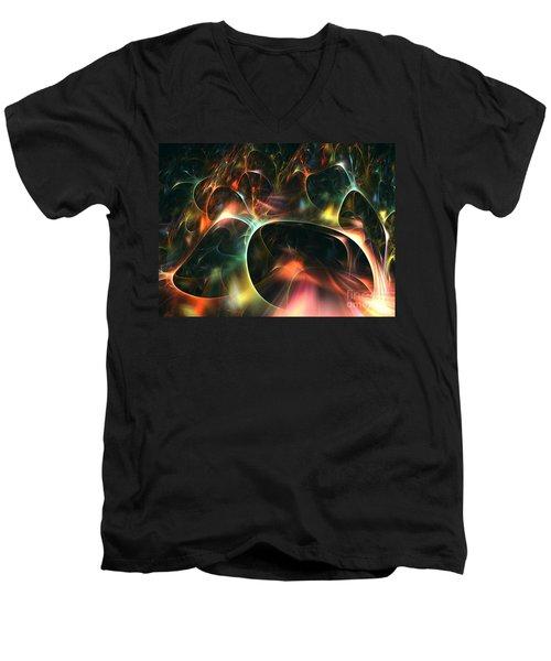 Neutrino Men's V-Neck T-Shirt by Kim Sy Ok