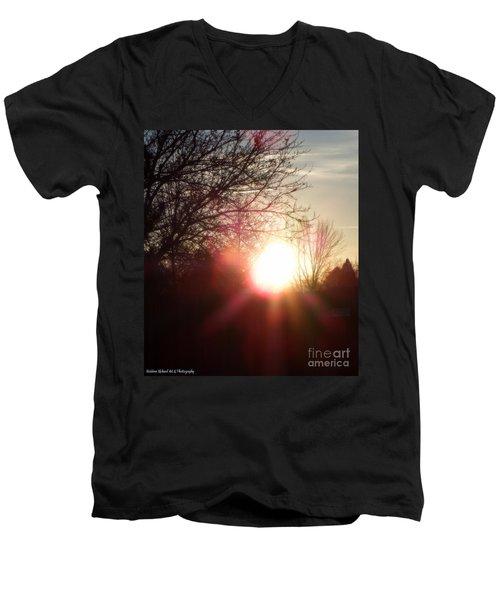 Nevada Sunset Men's V-Neck T-Shirt