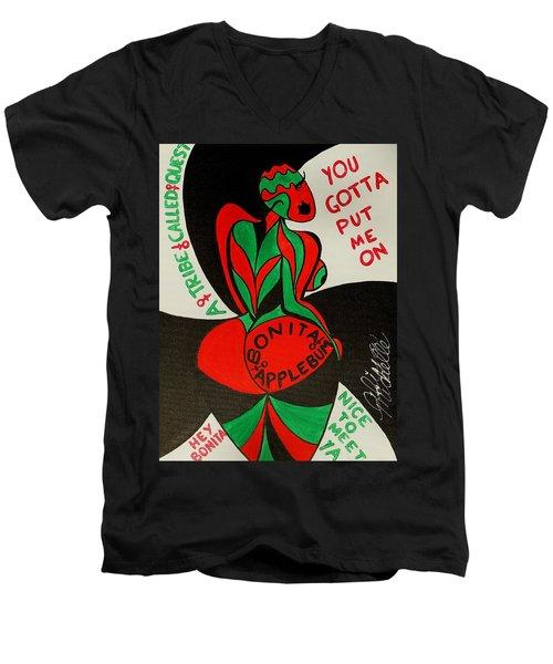 Never A Flaw Bonita Applebum Men's V-Neck T-Shirt