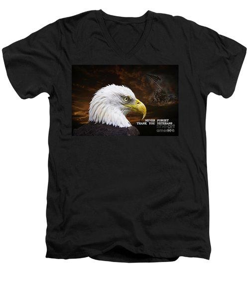 Never Forget - Memorial Day Men's V-Neck T-Shirt