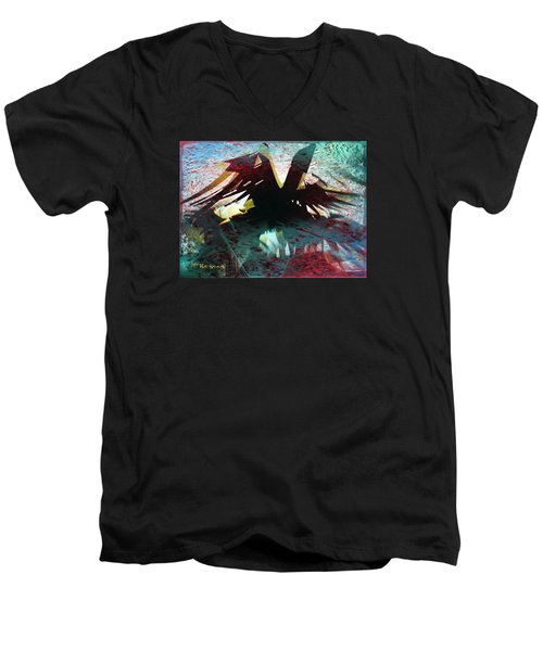 Nevermore Men's V-Neck T-Shirt by Sadie Reneau