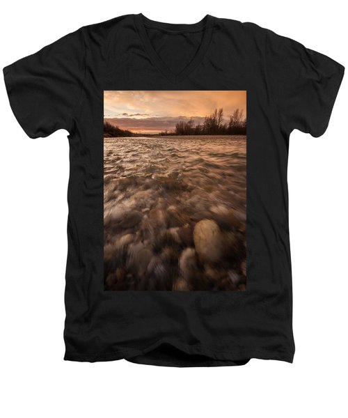 Men's V-Neck T-Shirt featuring the photograph New Dawn by Davorin Mance