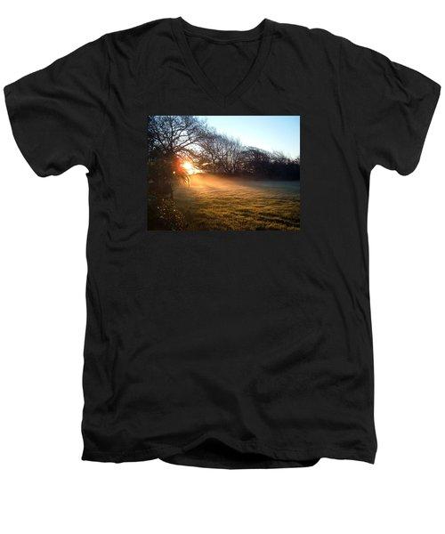 New Dawn Fades Men's V-Neck T-Shirt by Richard Brookes