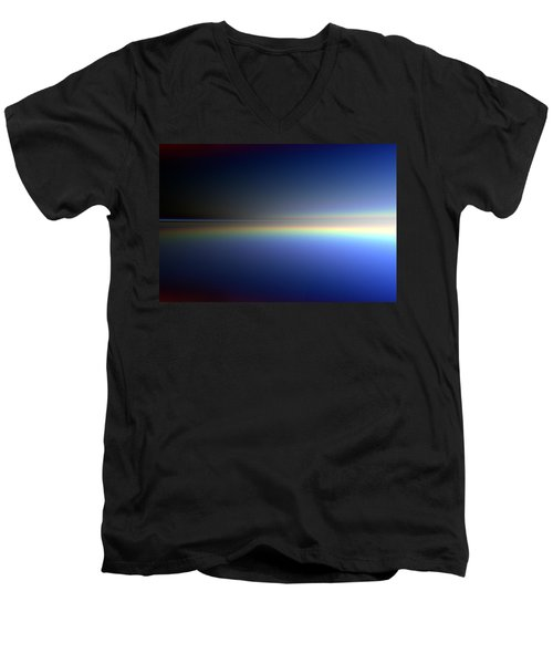 Men's V-Neck T-Shirt featuring the digital art New Day Coming by Andreas Thust