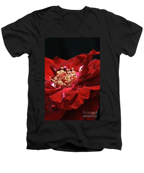 Men's V-Neck T-Shirt featuring the photograph New Dream by Joy Watson