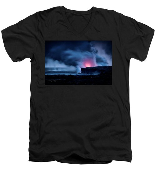Men's V-Neck T-Shirt featuring the photograph New Earth by Jim Thompson