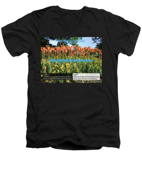 New Heavens New Earth Men's V-Neck T-Shirt