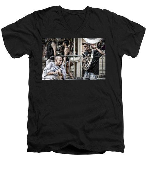 New Orleans Street Jam Men's V-Neck T-Shirt
