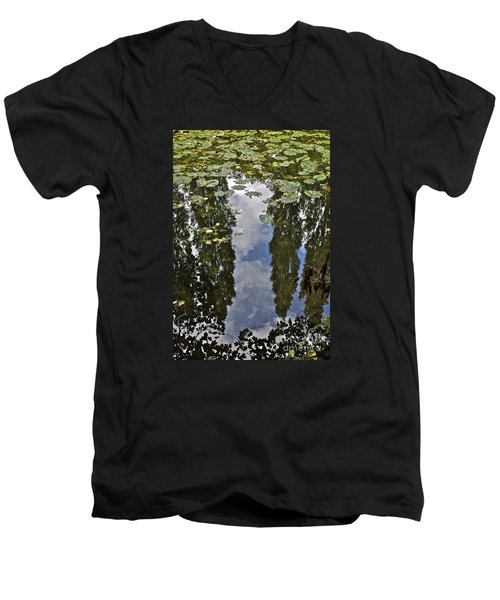 Reflections Amongst The Lily Pads Men's V-Neck T-Shirt