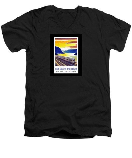 New York Central Vintage Poster Men's V-Neck T-Shirt