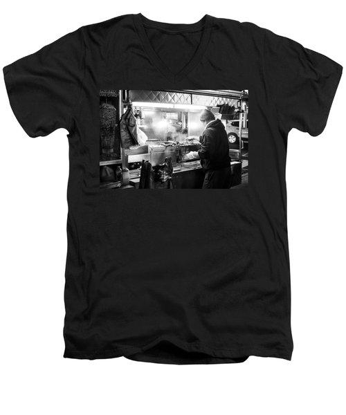 New York City Street Vendor Men's V-Neck T-Shirt