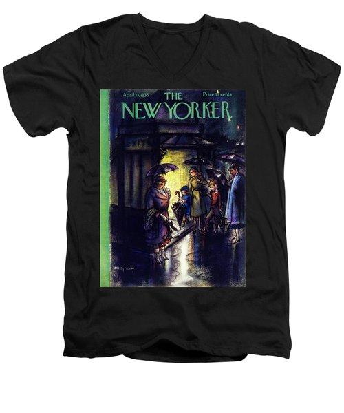 New Yorker April 13 1935 Men's V-Neck T-Shirt