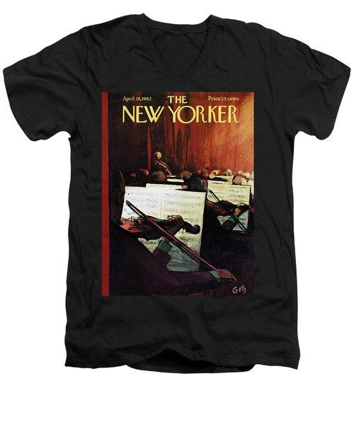 New Yorker April 28th, 1962 Men's V-Neck T-Shirt