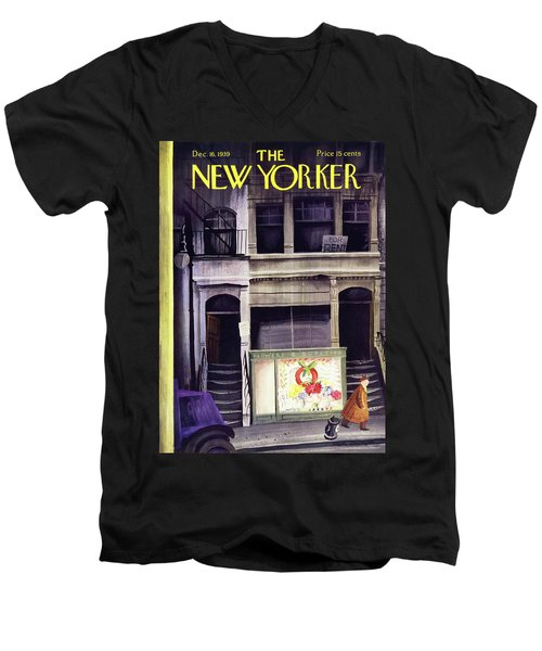 New Yorker December 16 1939 Men's V-Neck T-Shirt